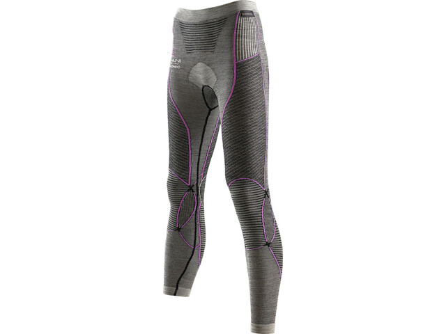 X-Bionic Apani Merino By X-Bionic Fastflow Long Uw Pants Damen black/grey/pink